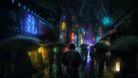 Night Lights by PiotrDura