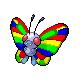 Rainbow Butterfree by motb777