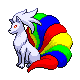 Rainbow Ninetales by motb777