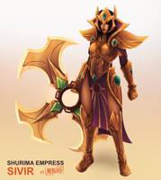 Shurima Empress Sivir [Skin Concept] by The0utlander
