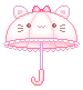 kitty umbrella by stardust-palace