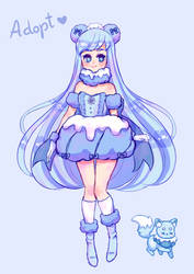 Snow girl adoptable [open] by stardust-palace