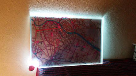 Berlin map Mitte 1857 pink by carlos-nikolaus