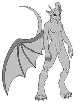 Female Anthro Dragon Base Clean by MrBlock