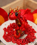 fire dragon on a marble by xXNeo