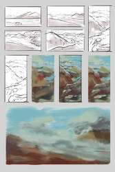 Mountain Studies 1 by Cheboboh
