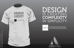AIGA JWU T-Shirt by maverick3x6