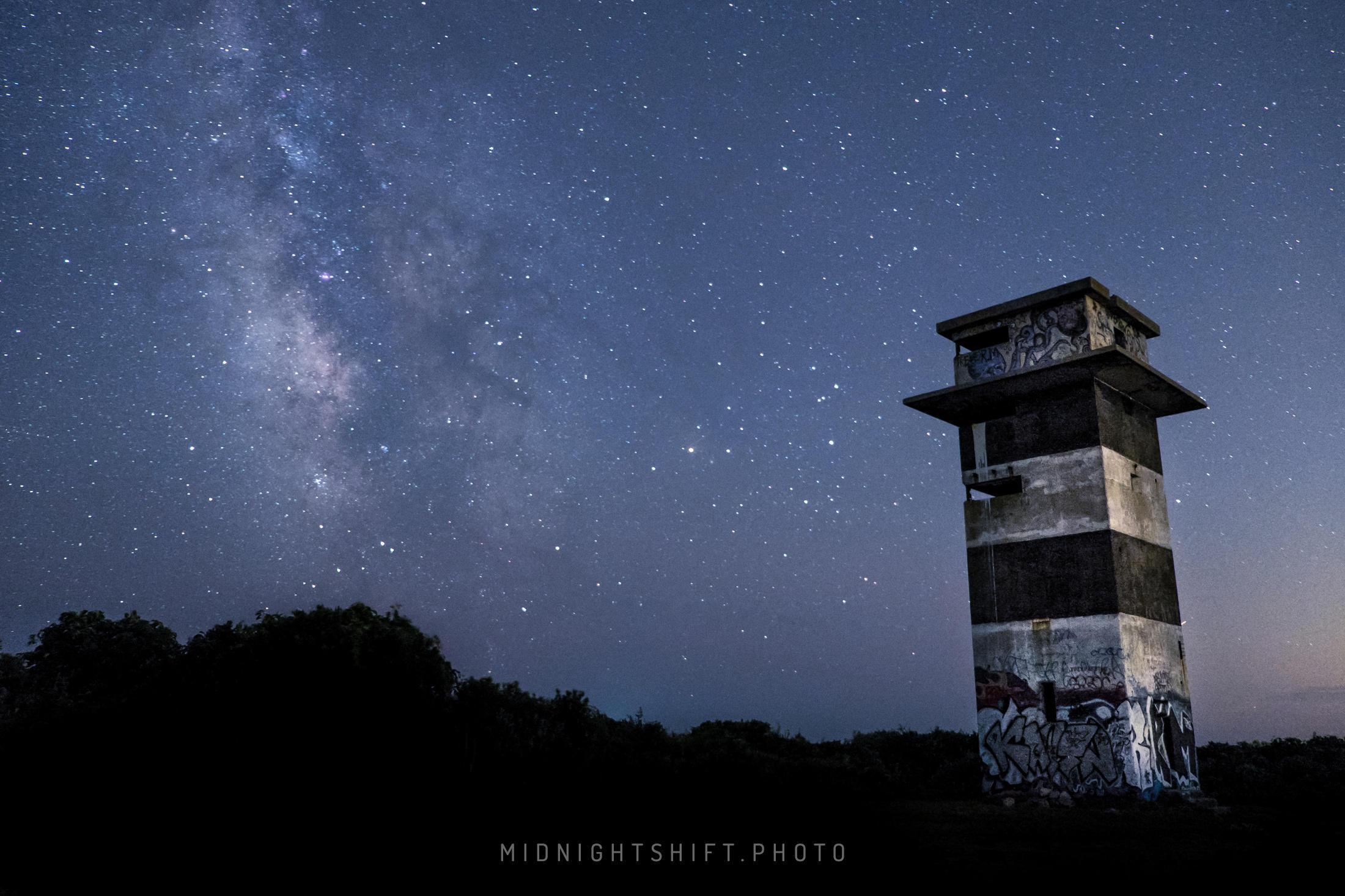 Milkyway Galaxy over Gooseberry Island (three) by maverick3x6