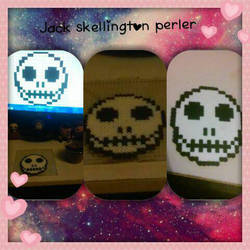 Jack Skellington perler bead :) by picachuluvr