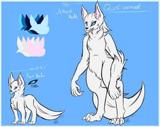 Lareina Lunar - Werewolf Quirk Ref by JusticeWereWolf
