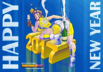 New Year 2017 image Ver B by sakusakupanic
