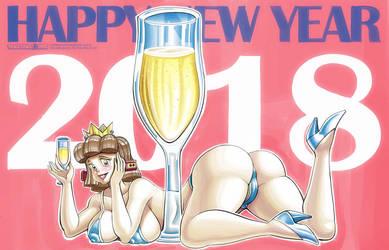 Happy New Year 2018 Pic (Bikini) by sakusakupanic