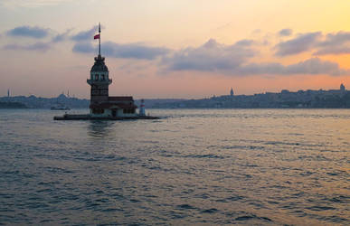 Summer Sunset over Istanbul by tahirlazim
