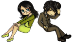 Commission- Chibi Lily and Clyde by Lilith-the-5th