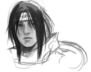 Sketch Itachi Uchiha- with timelapse video! by Lilith-the-5th