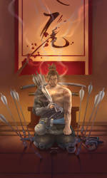 Tarot Project- 8 of Swords - Hanzo by Lilith-the-5th