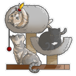 Commission- Chibi Bowie, Ivy, Lucky by Lilith-the-5th