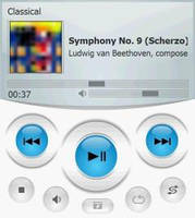 CleanGlass VGA Windows Media Player Mobile Skin by mikesamy