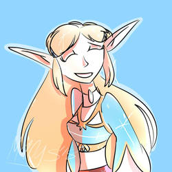 Hyrule's Lovely Princess by MangsFox