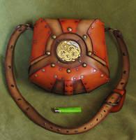 Steampunk leather bag by Fantasy-Craft