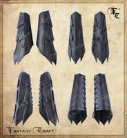 Drow or Dark Elf leather bracers by Fantasy-Craft
