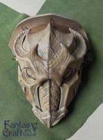 Dragon  pauldron mask Skyrim armor by Fantasy-Craft