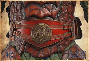 Leather dragon armor by Fantasy-Craft