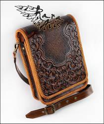 Leather shoulder, cross body, messenger bag by Fantasy-Craft
