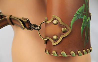 Leather quiver Calla Lilly by Fantasy-Craft