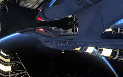 Starship Kearsarge in Drydock by Kant-Lavar