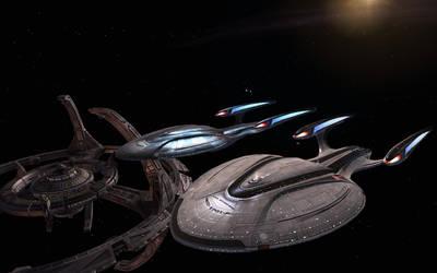 Kearsarge and Enterprise by Kant-Lavar