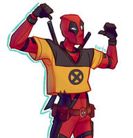 Deadpool the X-Men trainee! by ArtofBarbs