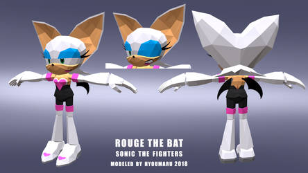 Rouge The Bat - Sonic The Fighters by VR-Hyoumaru