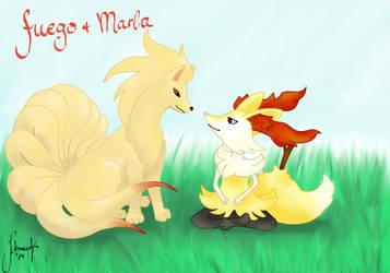 Marla+fuego Fanart for Marrilands Wonderwedlocke by Genfi