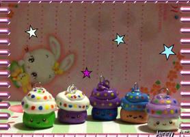 Smilie cupcakes by Sparklefiend