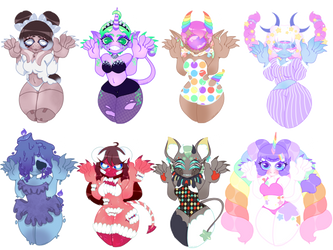 [OPEN] Big Claw Babes (Lower Price!) by SugarSpike
