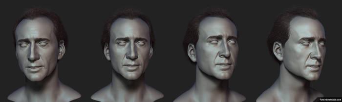 Nicolas Cage study by FunkyBunnies