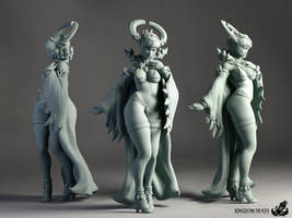 Kingdom Death: Dragon Sacrifice pin-up miniature by FunkyBunnies