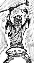 Inktober 03 - Gaullic Druid by henryxpl