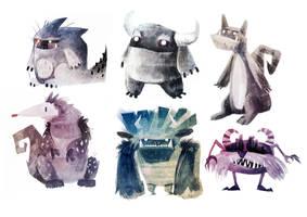 Monsters by viowl