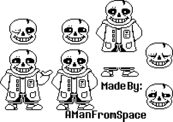 Undertwirl Sans Battle Sprite Sheet By Amanfromouterspace On