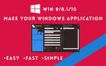 How to create an application for win 8/8.1/10 by hawen005