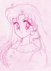 Usagi hair down sketch by seresere
