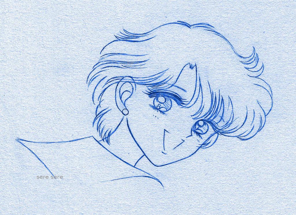 Mizuno blue sketch by seresere