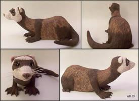 Ferret Sculpture by gylkille