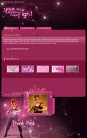 .:Pink Fight by ginkgografix