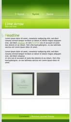 .:Lime Arrow by ginkgografix