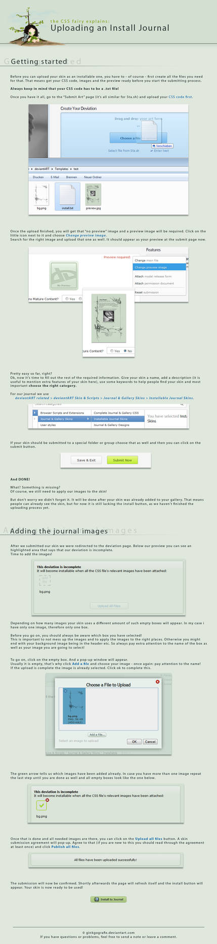How to upload Journal Skins III by ginkgografix