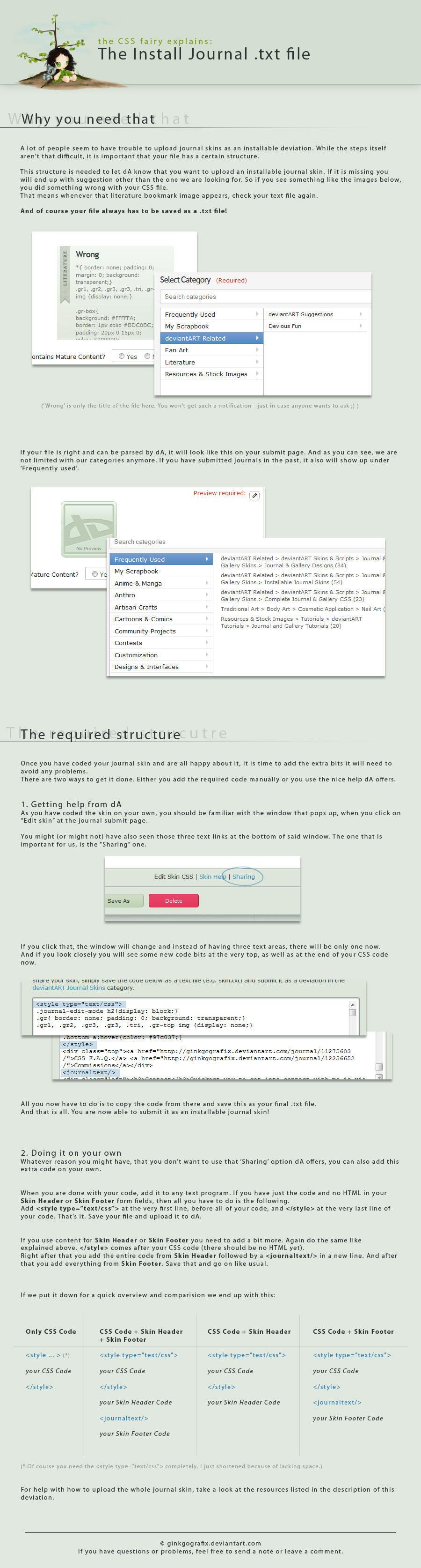 The Install Journal .txt file by ginkgografix