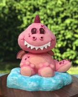 Pink Dragon Cake by ginkgografix